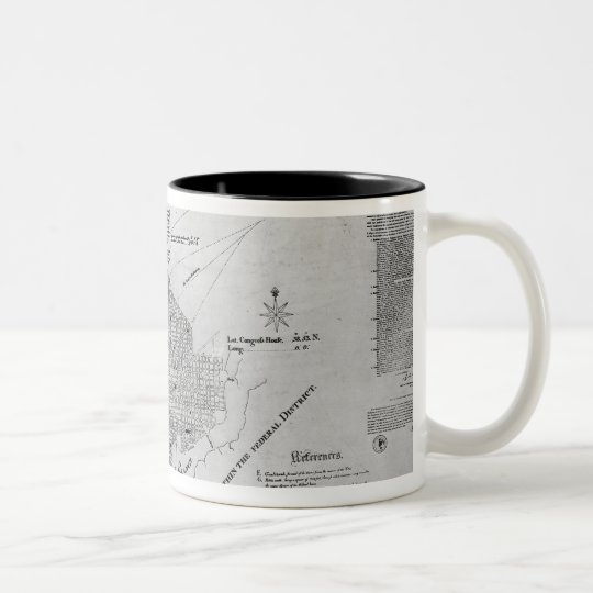 Plan of Washington D.C. Two-Tone Coffee Mug