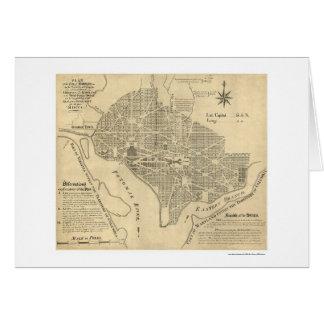 Plan of Washington DC Map 1792 Card