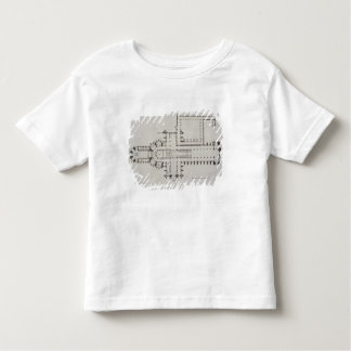 Plan of Westminster Abbey, plate 1 from 'Westminst Toddler T-shirt