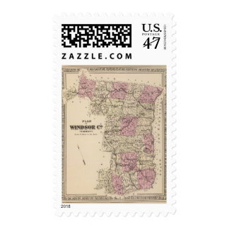 Plan of Windsor Company in Vermont Postage