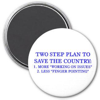 Plan para ahorrar el país imán redondo 7 cm