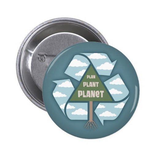 Plan-Plant-Planet Pinback Button