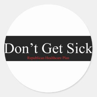 Plan republicano de la atención sanitaria - no pegatina redonda