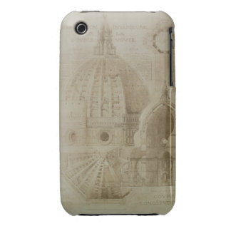 Plan, Section and Elevation of Florence Cathedral, iPhone 3 Cover