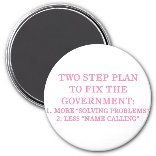Plan to fix the government magnet