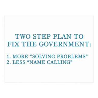 Plan to fix the government postcard