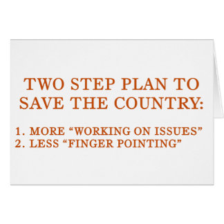 Plan to save the country greeting card