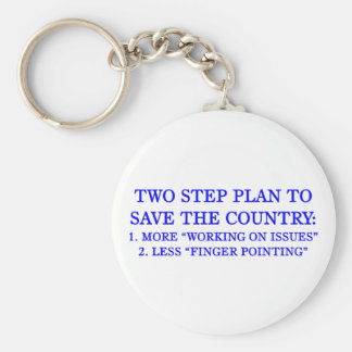 Plan to save the country basic round button keychain