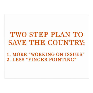 Plan to save the country postcard