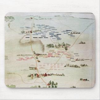 Plan y vista de la batalla de Waterloo Alfombrillas De Ratones