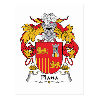 Plana Family Crest Postcard