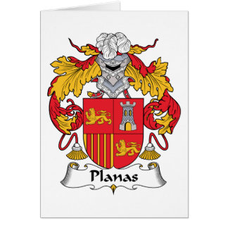 Planas Family Crest Card