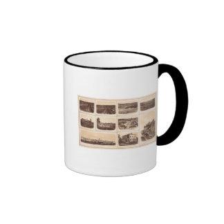 Planche los clads, héroe del motor, líneas rebelde tazas de café