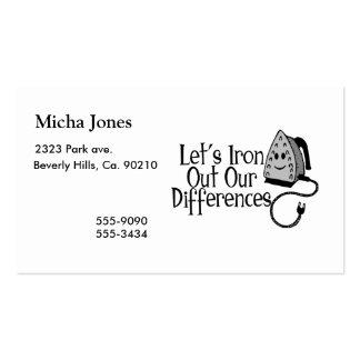 Planchemos hacia fuera nuestras diferencias tarjetas de visita
