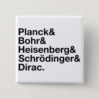 Planck & Bohr & Heisenberg & Schrödinger & Dirac Button