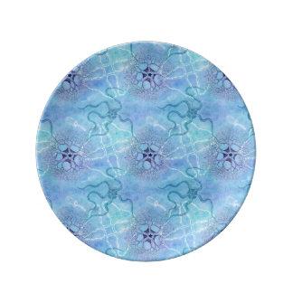 Plancton marino de las estrellas de mar de las platos de cerámica