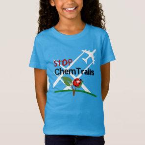 Plane Aerosol Chemtrails Lady Bug Leaf T-Shirt