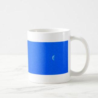 plane and moon classic white coffee mug