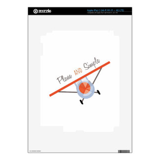 Plane and Simple iPad 3 Decal