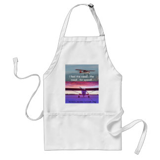 Plane at sunset, I feel the n... Adult Apron