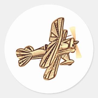 Plane - Avion Classic Round Sticker