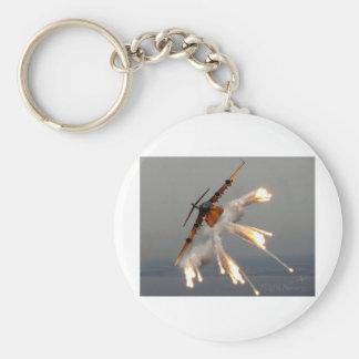 plane basic round button keychain