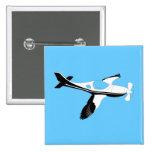Plane Bird Pin