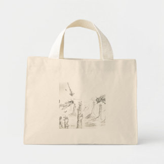 Plane-Bug fight Mini Tote Bag