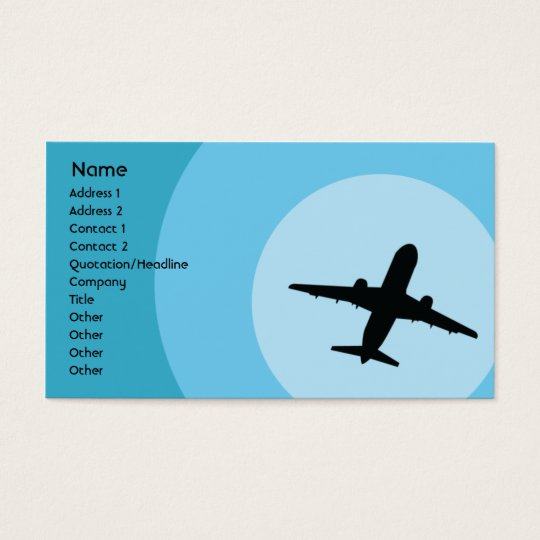 Plane - Business Business Card