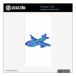 plane cartoon decals for iPhone 4S