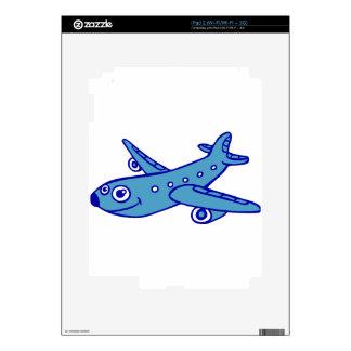 plane cartoon iPad 2 decal