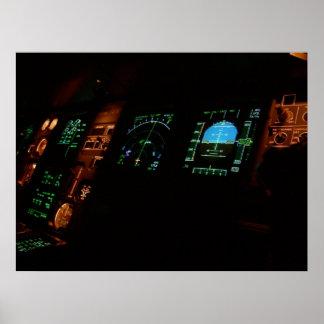 Plane Cockpit Poster