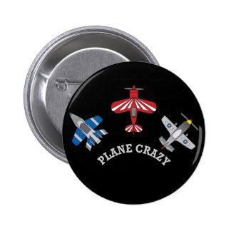 Plane Crazy 2 Inch Round Button