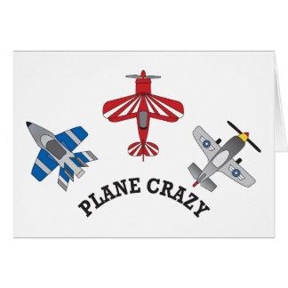 Plane Crazy Greeting Card