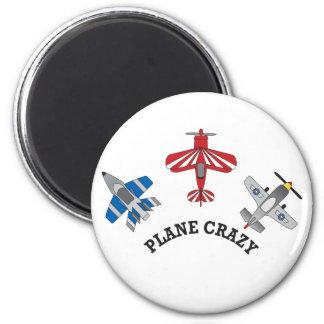 Plane Crazy 2 Inch Round Magnet