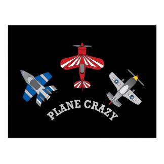 Plane Crazy Postcard