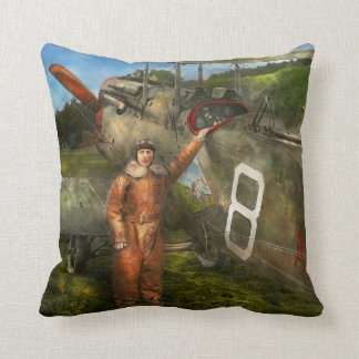 Plane - First One-Stop Flight Across the US - 1921 Throw Pillow