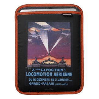 Plane Flying Over Searchlight Poster iPad Sleeve