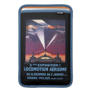 Plane Flying Over Searchlight Poster MacBook Sleeve
