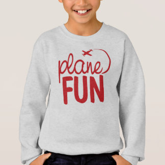 Plane Fun - Red and Cool Sweatshirt