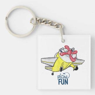 Plane FUN -Yellow Going Up Keychain
