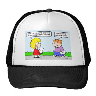 plane geometry test back square one hats