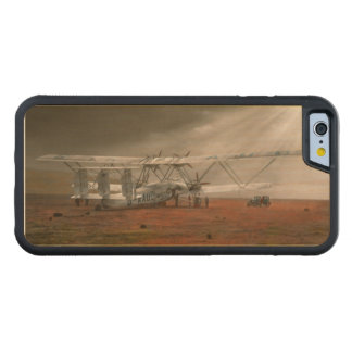 Plane - Hanno ready to take off 1931 Carved Maple iPhone 6 Bumper Case