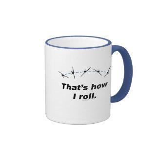 Plane How I Roll Ringer Coffee Mug
