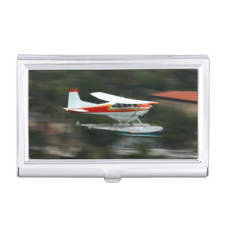 Travel airplane business card holders cases zazzle plane in motion photo business card holder colourmoves