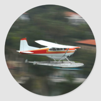 Plane in Motion photo Classic Round Sticker