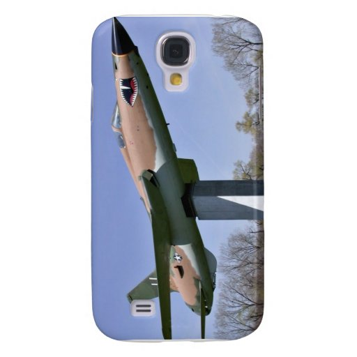 Plane in show with trees and sky in background samsung galaxy s4 case