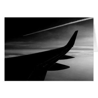 Plane in the Air Card