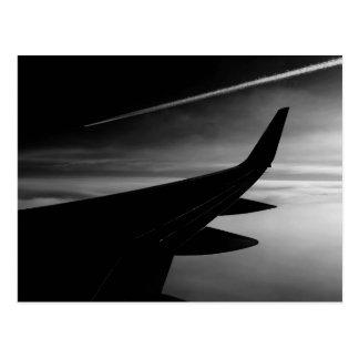Plane in the Air Postcard