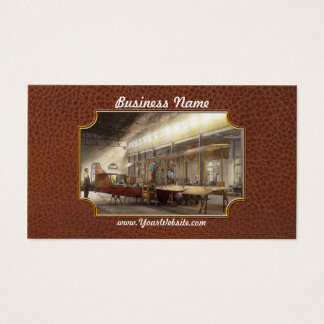 Plane - In the Airplane Factory 1918 Business Card